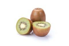 Kiwi fruit isolated on white background, macro Stock Photo