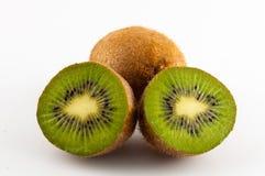 Kiwi fruit isolated on white background, macro. Green Stock Photo