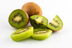 Kiwi fruit isolated on white background, macro Royalty Free Stock Image