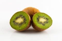 Kiwi fruit isolated on white background, macro. Green Royalty Free Stock Image
