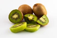 Kiwi fruit isolated on white background, macro. Green Royalty Free Stock Photography