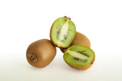 Kiwi fruit isolated on white background Stock Photography
