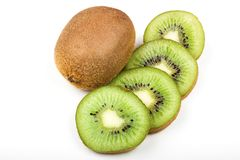 Kiwi fruit isolated on white background. Sweet Kiwi fruit isolated on white background brown color colour cut cutout diet dieting food fresh freshness glossy royalty free stock photo