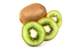 Kiwi fruit isolated on white background. Sweet Kiwi fruit isolated on white background brown color colour cut cutout diet dieting food fresh freshness glossy royalty free stock photography