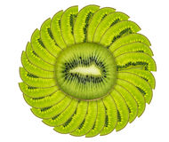 Kiwi fruit isolated on white Stock Photography