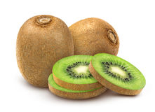 Kiwi fruit isolated. Whole and sliced kiwi isolated on white background with clipping path. Stock Images