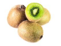 Kiwi Fruit, isolato su fondo bianco Fotografia Stock