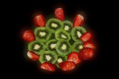 Kiwi Fruit & jordgubbe Royaltyfri Fotografi