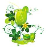 Kiwi fruit juice. Green kiwi fruit juice background Royalty Free Stock Photos