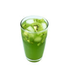 Kiwi fruit juice with ice in glass Stock Photos