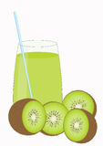 Kiwi fruit juice Stock Image