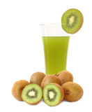 Kiwi fruit and juice Stock Photos
