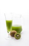 Kiwi fruit and kiwi juice Stock Image