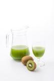 Kiwi fruit and kiwi juice Stock Images
