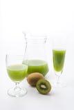 Kiwi fruit and kiwi juice Royalty Free Stock Photography