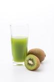 Kiwi fruit and kiwi juice Royalty Free Stock Images