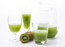 Kiwi fruit and kiwi juice Stock Image