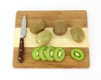 Kiwi Fruit Knife Cutting Board Stock Images