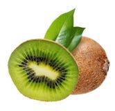 Kiwi fruit with leaves stock photos