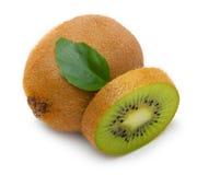 Kiwi fruit with leaves stock image