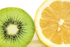 Kiwi Fruit And Lemon Stock Image