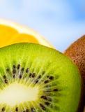 Kiwi fruit macro Stock Photos