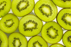 Kiwi Fruit. Macro view of slices of Kiwi Fruit Stock Photography