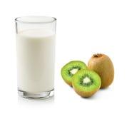 Kiwi fruit and milk Stock Images