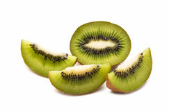 Kiwi fruit. With mint on a  white  background Stock Photo