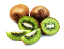 Kiwi fruit. With mint on a  white  background Stock Image