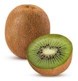 Kiwi fruit one cut in half Stock Photography