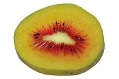 Kiwi fruit one slice 1381 Stock Photos