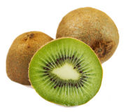 Kiwi fruit over white background Stock Photo