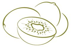 Kiwi fruit, pictogram Stock Photography