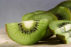 Kiwi fruit pieces Royalty Free Stock Photos
