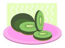 Kiwi Fruit on a Platter Royalty Free Stock Photos