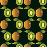 Kiwi fruit seamless pattern. Stock Photos