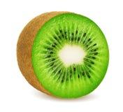 Kiwi fruit. Single half of kiwi fruit on white background. Clipping path included stock photo