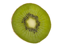 Kiwi Fruit Slice. Macro view; isolated on white background Royalty Free Stock Photo