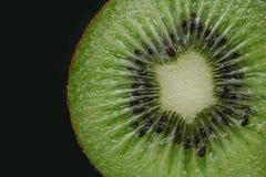 Kiwi fruit slice close up Stock Photo