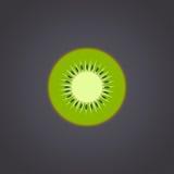 Kiwi fruit slice closeup on black background Stock Image