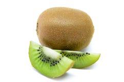 Kiwi fruit, slice of qiwi isolated on white background Royalty Free Stock Photography