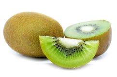 Kiwi fruit, slice of qiwi isolated on white background Royalty Free Stock Photos