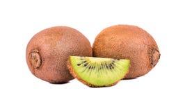 Kiwi fruit with a slice Stock Images