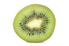 Kiwi fruit slice on white background Royalty Free Stock Images