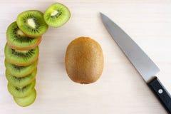 Kiwi fruit slice Royalty Free Stock Images