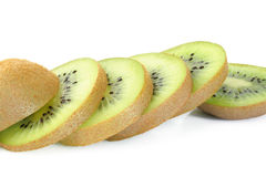 Kiwi fruit sliced Stock Photos