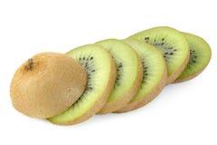 Kiwi fruit sliced isolated on white Royalty Free Stock Photos