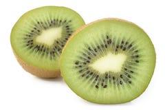 Kiwi fruit sliced isolated on white Stock Photos