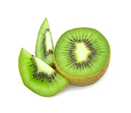 Kiwi  fruit  sliced segments isolated on white background Stock Image